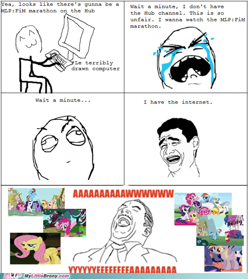comics internet marathon Rage Comics the hub - 5575900672