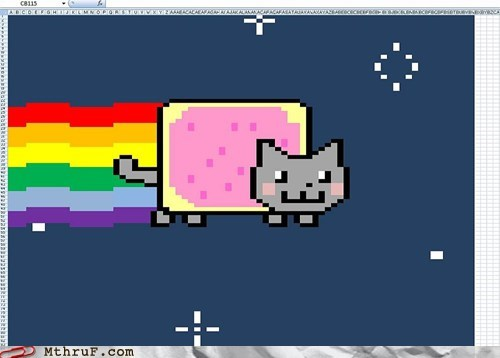 excel cat,excel win,Nyan Cat,procrastination