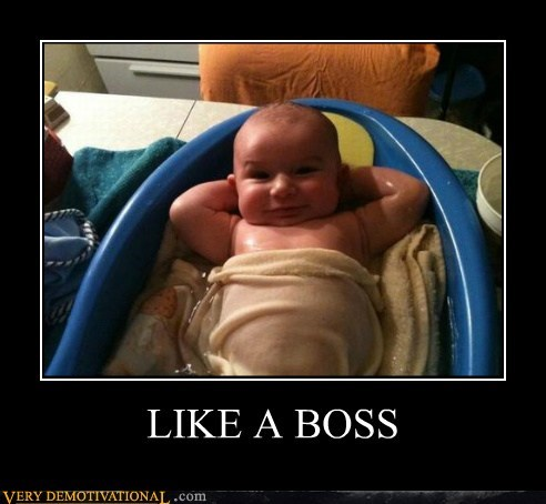 baby cute happy Like a Boss Pure Awesome