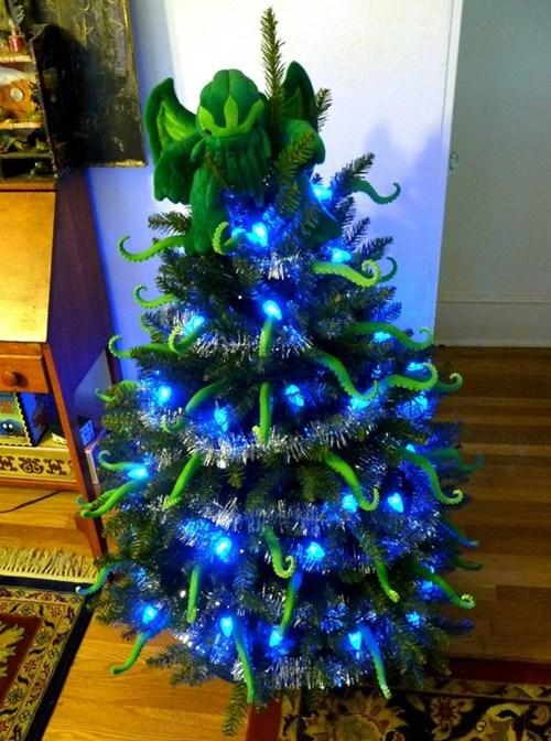 christmas christmas tree cthulhu Fan Art - 5576695808