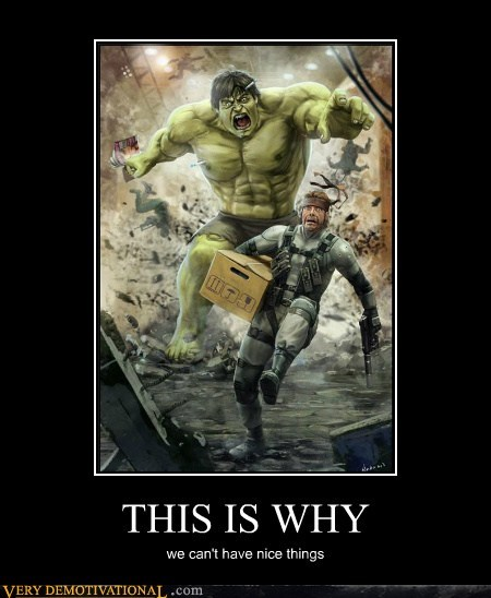 hilarious hulk run solid snake