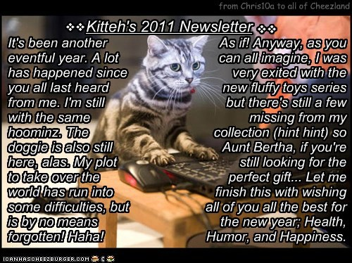 Kitteh's 2011 Newsletter