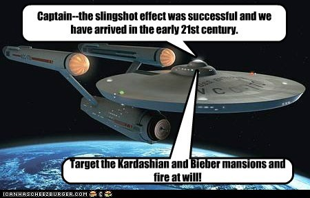 best of the week Bieber captain enterprise fire kardashian Star Trek time travel