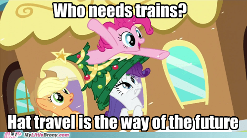 hat travel pinkie pie train TV - 5577167104