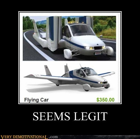 cheap flying car plane Pure Awesome seems legit - 5578248960