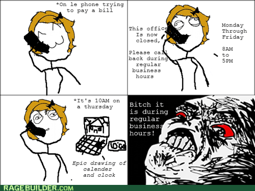 bills call center phone Rage Comics - 5578650624