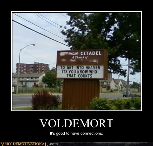 citadel Harry Potter heaven hilarious voldemort - 5578843648