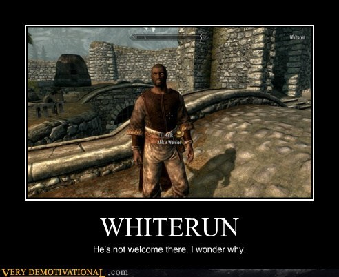 black guy,hilarious,racist,Skyrim,whiterun,wtf