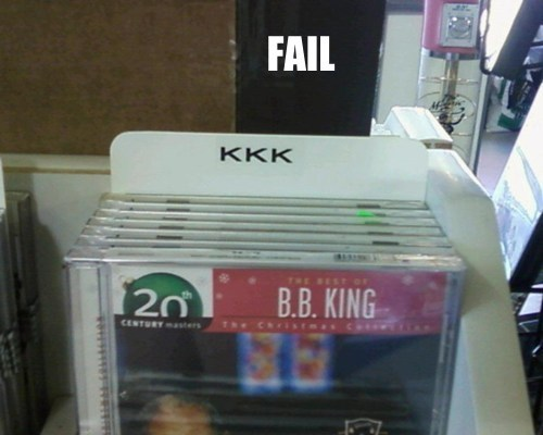 bb king christmas FAIL Gifts For Your Friends on The Naughty List Professional At Work thats-racist - 5579135232