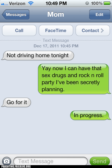 alcohol drugs mom mother Parenting Fail Party text