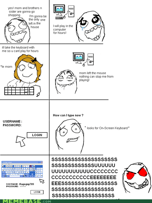keyboard,pfft,Rage Comics,video games