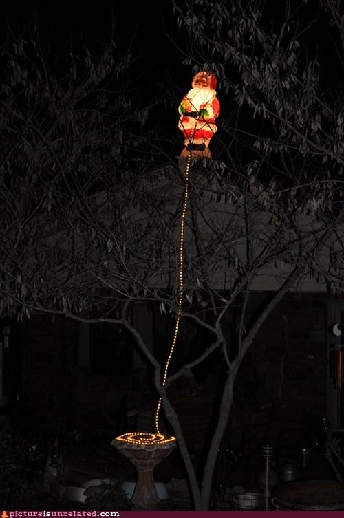 christmas lights santa urination wtf - 5579429120