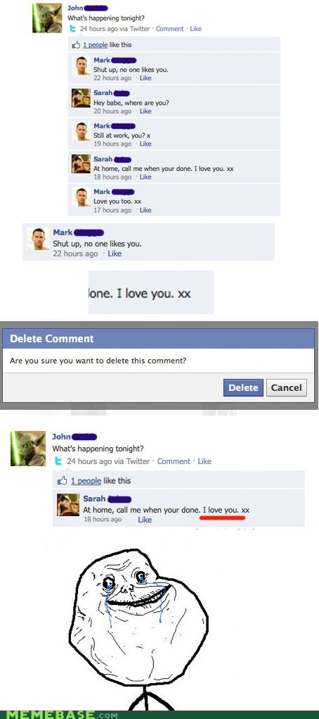 facebook forever alone tricks