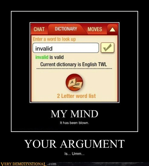 dictionary hilarious invalid Invalid Argument wtf