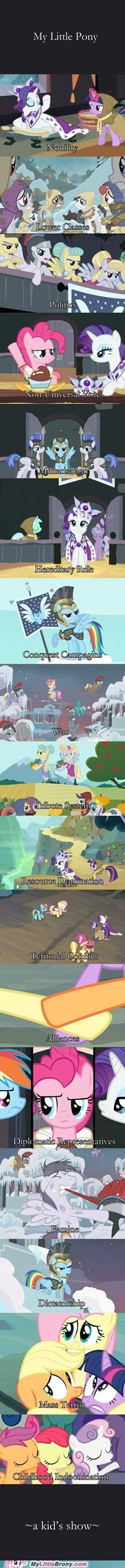 best of week Bronies comics kiddie show kids show life lessons my little pony politics - 5579799040