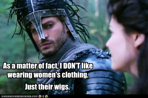 As a matter of fact, I DON'T like wearing women's clothing. Just their wigs.