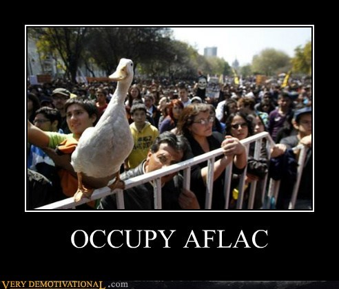 Aflac duck hilarious occupy wtf