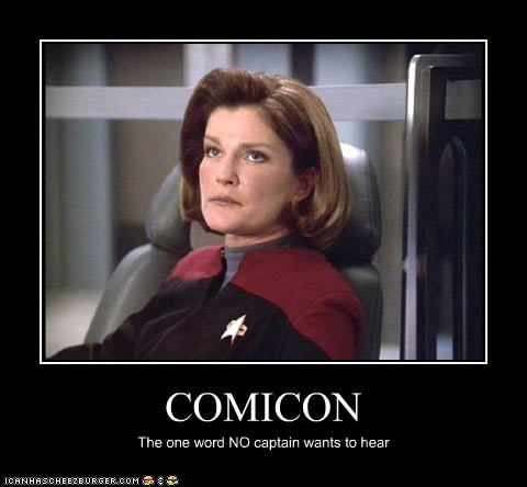 captain captain janeway comic con kate mulgrew Star Trek word - 5580204032