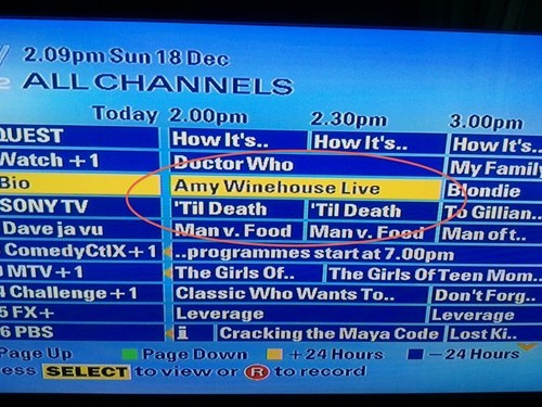 amy winehouse juxtaposition too soon tv guide - 5580247040
