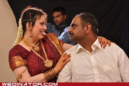 funny wedding photos,groom,india,photobomb bride