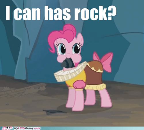 happycat I Can Has Cheezburger meme pinkie pie rock - 5580439296