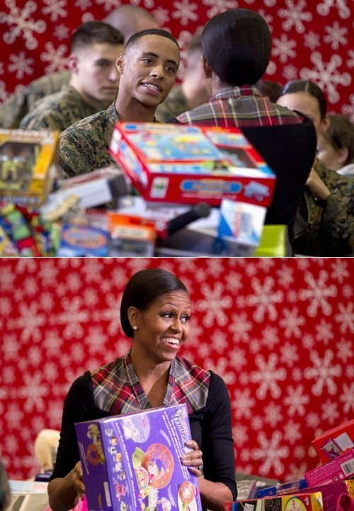 Aaron Leeks BAMF First Lady Marine Corps Ball Michelle Obama So This Happened - 5580982528