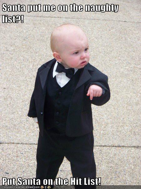 Baby Godfather hit list list naughty santa - 5581135616