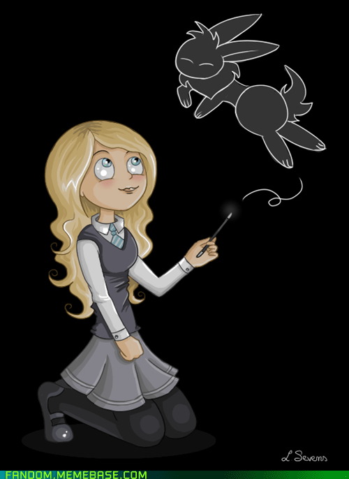 Fan Art Harry Potter luna lovegood patronus - 5581237248