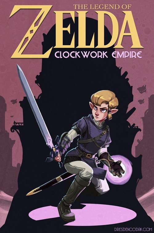 gender swap,link,art,video games,zelda
