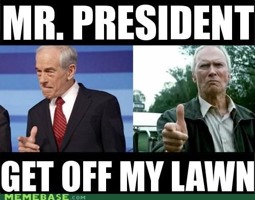 Clint Eastwood lawn Memes president - 5581491968