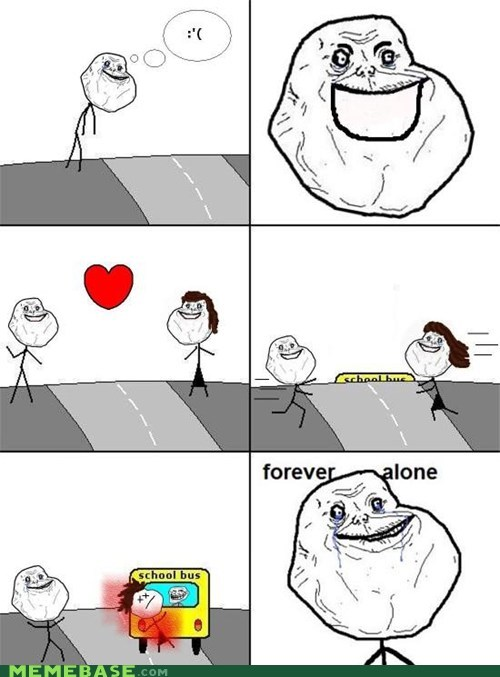 dead,forever alone,love,Rage Comics