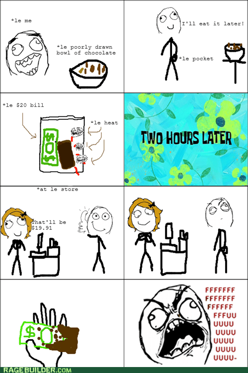 chocolate melt money pocket Rage Comics - 5581636608