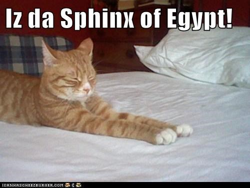 Iz da Sphinx of Egypt!