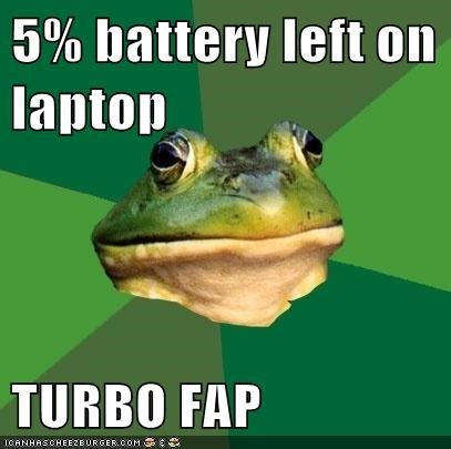 battery fap foul bachelor frog race