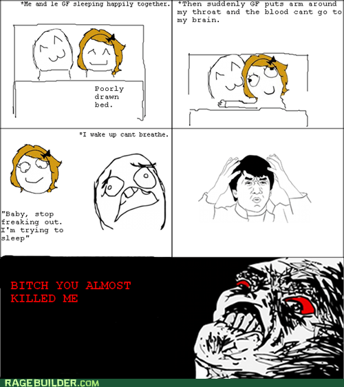 cuddles,Rage Comics,sleep,wtf