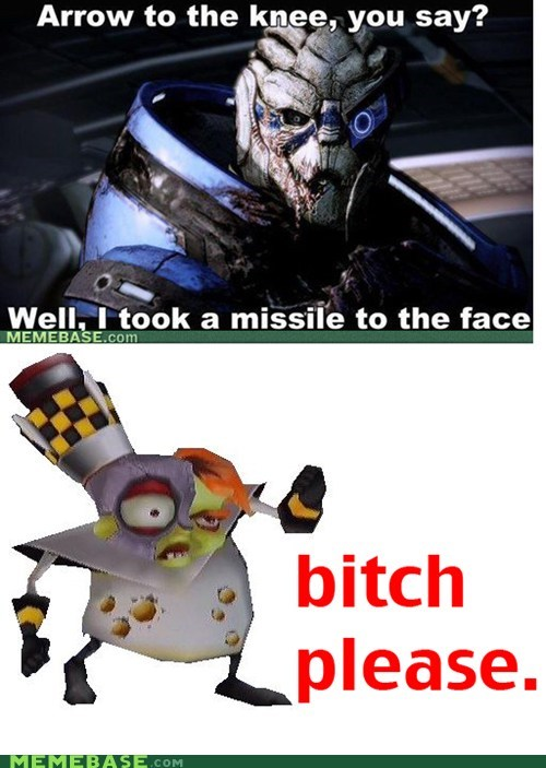 arrow to the knee crash bandicoot mass effect Memes Skyrim video games - 5582348800