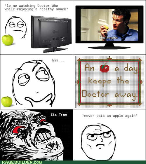 apple,best of week,doctor who,never again,Rage Comics
