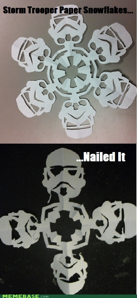 DIY Fan Art Memes snow snowflakes star wars stormtrooper - 5582550272