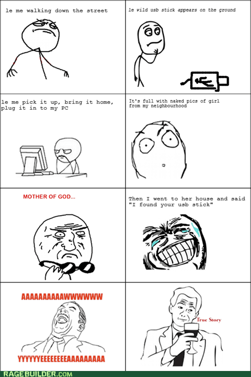 Awkward naughty pics Rage Comics usb stick - 5582581760