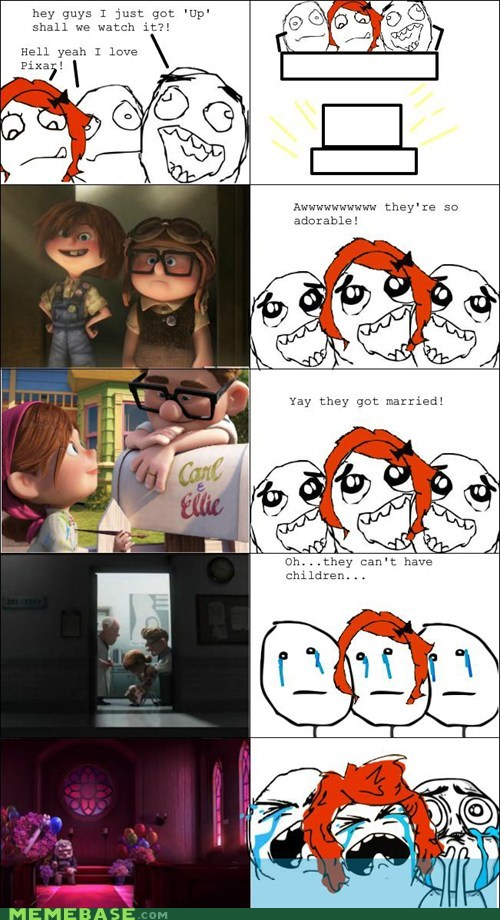 cute,pixar,Rage Comics,Sad,up