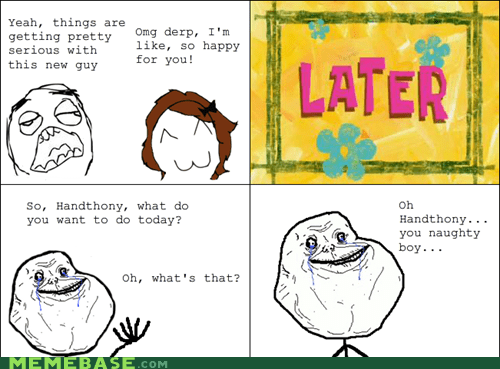 forever alone hand Rage Comics relationships - 5582872320