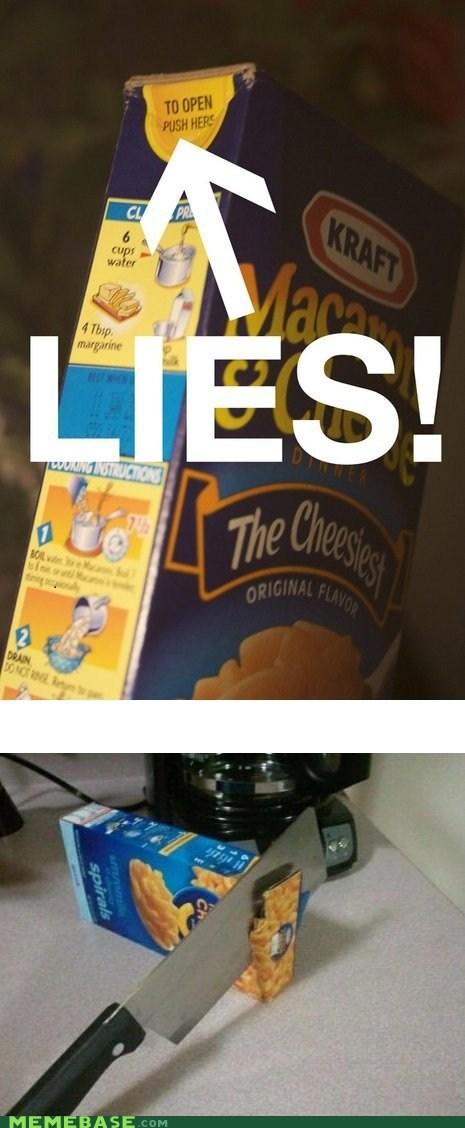 box,knife,macaroni,Memes,open