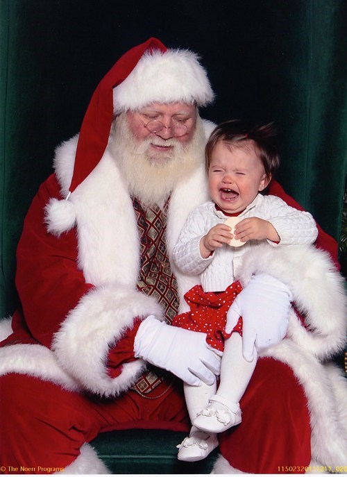 baby creepy crying mall no touching santa - 5583079424