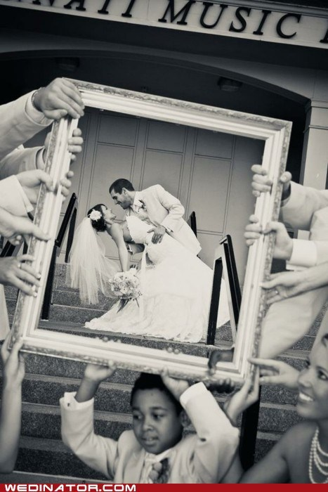bride children frame funny wedding photos groom