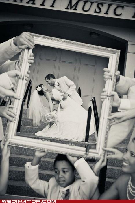 bride children frame funny wedding photos groom - 5583130880