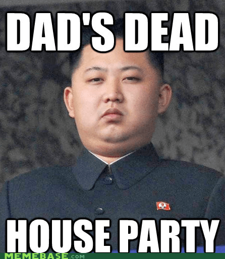 Kim Jong-Il kim jong-un korea Memes parents Party - 5583426560