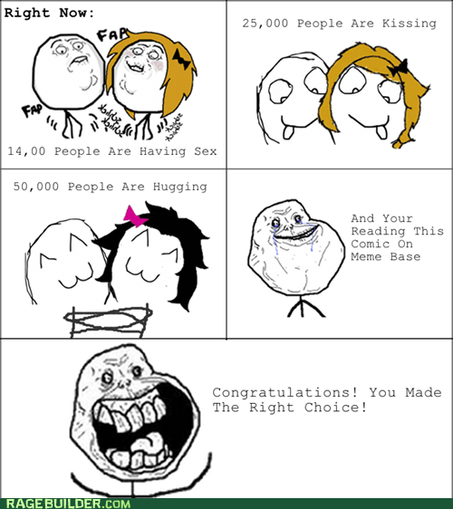 forever alone,kissing,Rage Comics,sexytimes