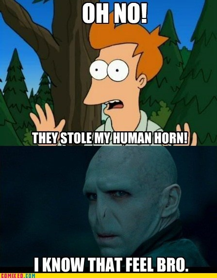 human horn i know that feel oh no sexy time TV voldemort