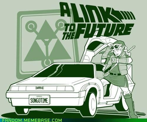 back to the future crossover Fan Art fandom legend of zelda link marty mcfly Memes - 5584942592