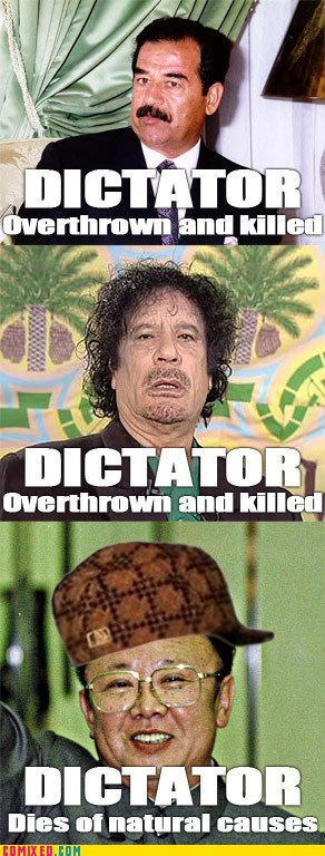 dictator,killed,Kim Jong-Il,natural causes,politics,scumbag